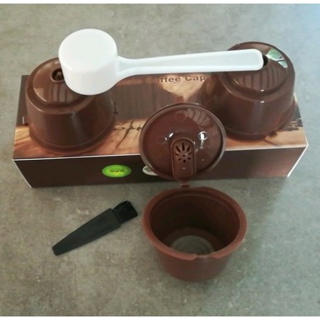 3 refillable Dolce Gusto capsules reusable pods