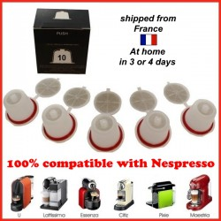 batch 10 capsules economic refillable Nespresso compatible