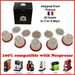 batch 20 capsules economic refillable Nespresso compatible , reusable pods