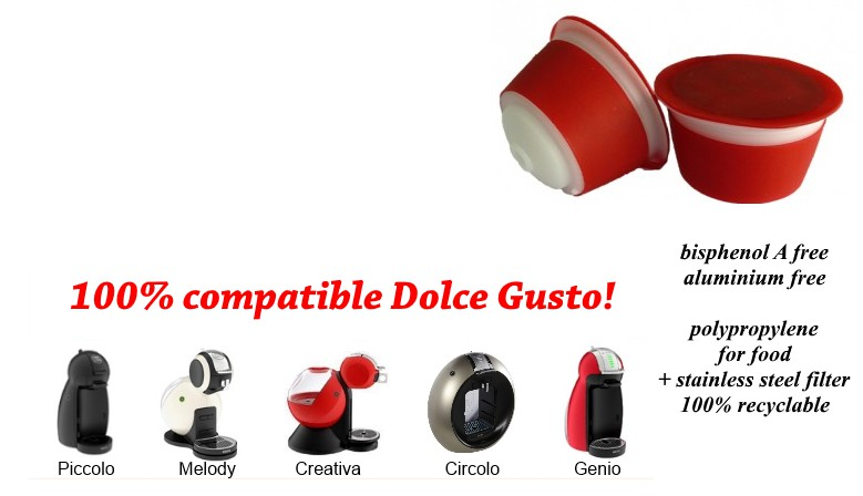 Dolce Gusto refillable  pods